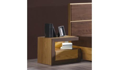 Noptieră lemn masiv cu 1 sertar HAVANA 2
