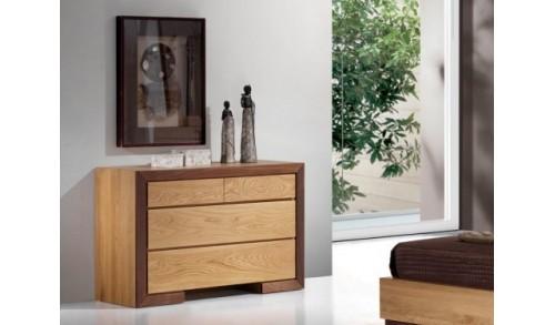 Comoda lemn masiv 4 sertare HAVANA 120x48x80 cm