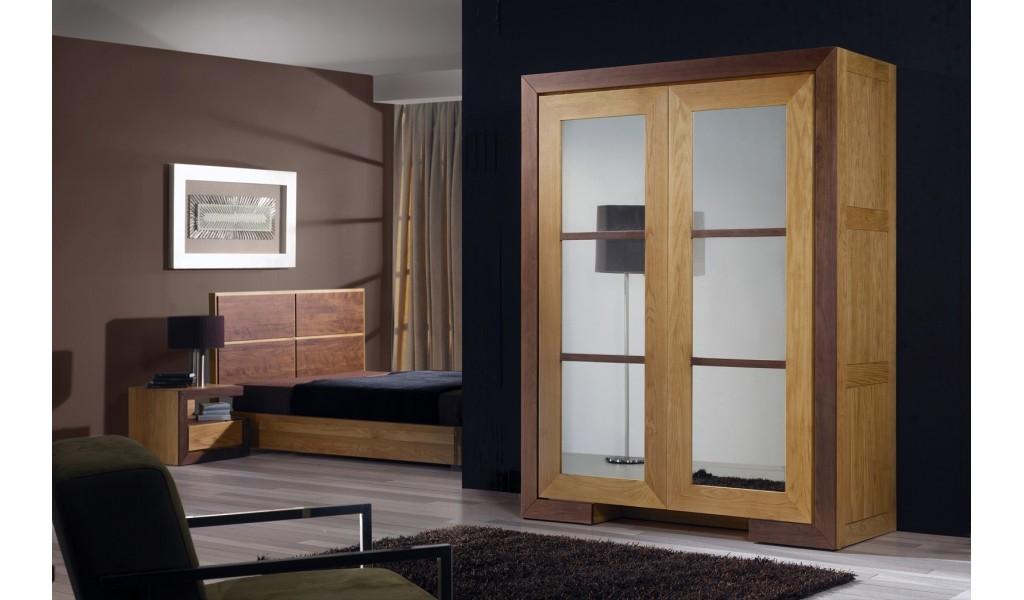 Dulap lemn masiv 2 uşi HAVANA 140x60x200 cm